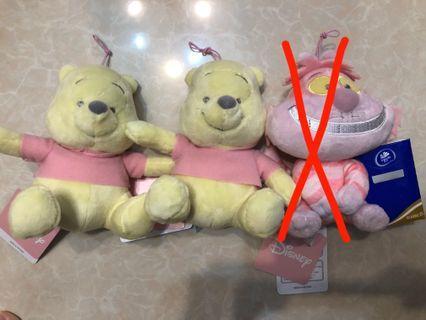 Disney Winnie the Pooh 小熊維尼 Cheshire Cat 妙妙貓 冒險樂園 全新 有牌