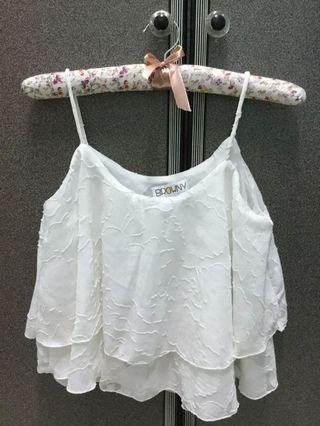 White Crop Top #MGAG101