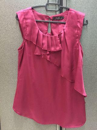 #MGAG101 Red Sleeveless Top