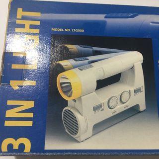 三合一 收音機 電筒 光管