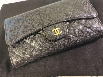 🚚 Authentic Chanel Caviar Wallet (Preloved)