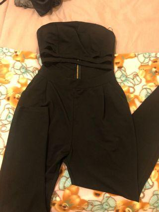 Black Strapless Jumpsuit 6