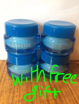 (4pcs/set) Laneige water bank gel cream 補濕面霜(with free gift) #MTRcentral