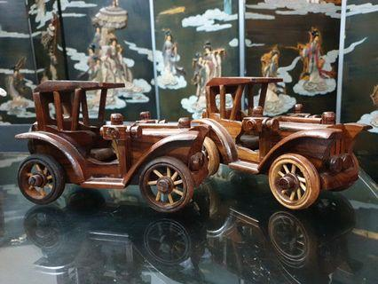 Vintage wooden cars 2 pcs