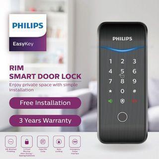 Philip EasyKey Rim Smart Door Lock (NEW)