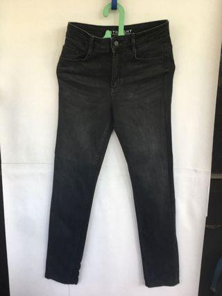 Marks and Spencer M&S Dark Grey wash-out Denim pants / Jeans abu gelap
