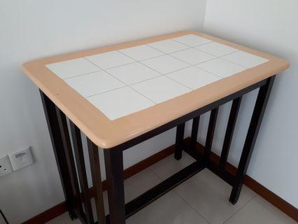 Table With Tiles Design