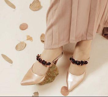 Valencia by Enrica Sofia Heels in Rosegold size 38