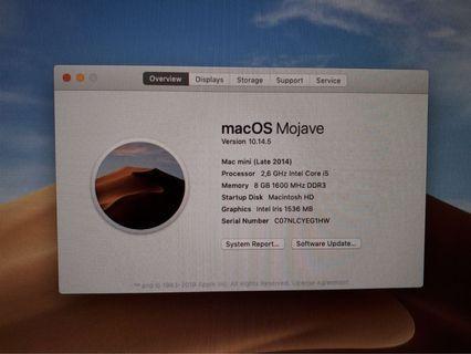 Mac Mini 2014 i5 8gb 1tb