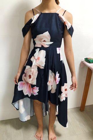 MDS Off Shoulder Floral Maxi Dress