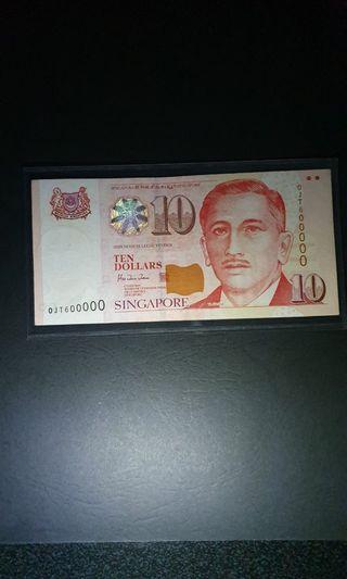 Singapore 🇸🇬$10 signature: HTT