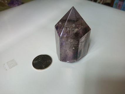 紫晶 茶晶 白水晶 共生水晶柱