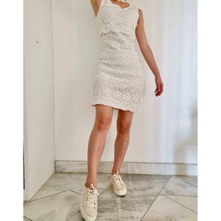 White Fairy Shift Dress