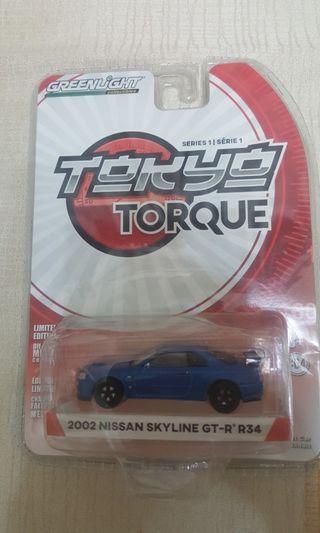 Greenlight not hotwheels hot wheels tokyo torque r34
