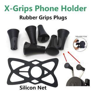 X-Grip Phone Holder Rubber Grip plug Silicon Rubber Net handphone holder