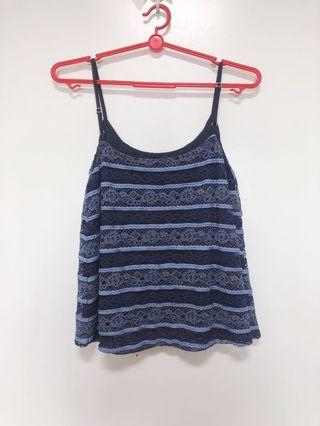 Osmose Lace Flare Spag Top