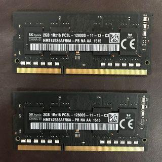 Macbook RAM 2GBx2