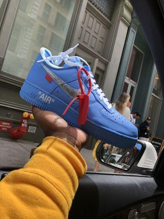 Nike x Off White Air Force 1 MCA Blue Virgil Abloh US 8