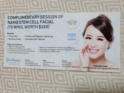 Complimentary Session of Nano Stem Cell Facial