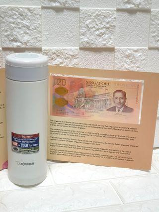 Bundle Deal to celebrate Bicentennial Year:  SG $20 & Zojiruhi 480ml Beautiful Red Coloured Mug; Excellent Vacuum Insulation; Easy to Clean