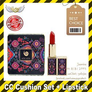🚚 WOUWOU WOWO Harem CC Cushion Set with FREE Refill + Lipstick (Authentic with QR Code)