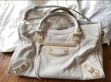 巴黎世家 Balenciaga classic metallic edge city 手袋