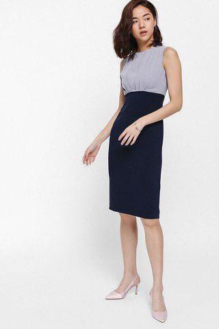(BNWT) Love Bonito Ondrelle Pleated Contrast Midi Dress #EndgameYourExcess