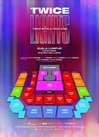Light zone L1 first row between 1~30 twice concert