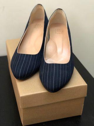 藍色條紋高跟鞋