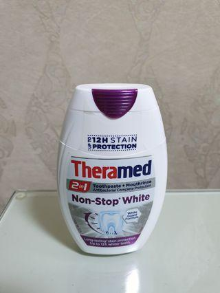 Theramed 2-in-1 Non-Stop White Toothpaste + Mouthrinse 75ml