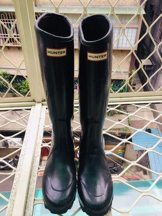 🚚 Hunter Regent 斜口長筒雨靴 40號