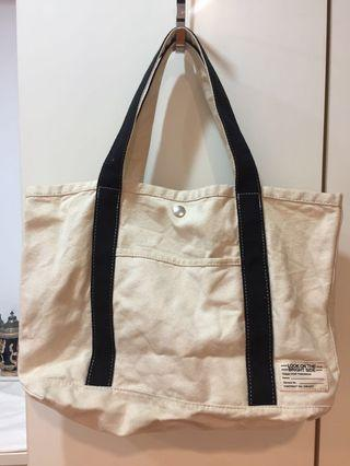 日本購入GU白色帆布包