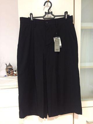 日本購入HARE男裝六分黑色寬褲全新日系型男必備