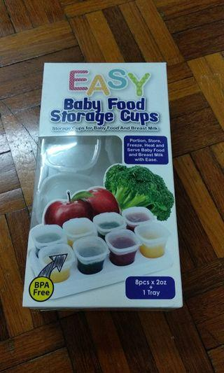 Baby food storage cups 8pcs 2oz with tray