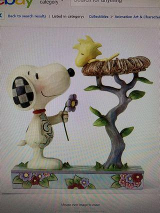 Jim Shore Peanuts - Snoopy & Woodstock in Nest Warming Gift