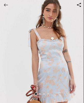 Sisters of the tribe cami dress with tie shoulder AU 10