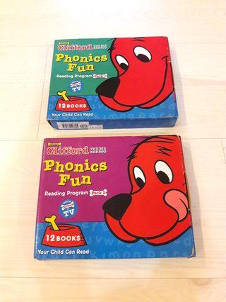 Preloved Clifford Phonics Fun Book Set - Pack 1 and 2