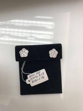 18K Gold Diamond Earrings