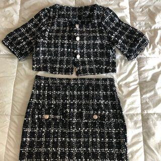 SALE Chanel inspired tweed Coordinates