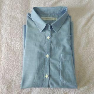 Giordano blue shirt