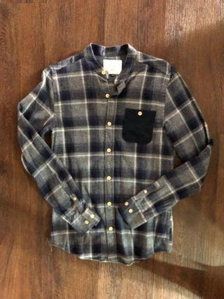 REV BN Blue Checkered Shirt