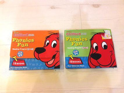 Preloved Clifford Phonics Fun Book Set - Pack 3 and 4