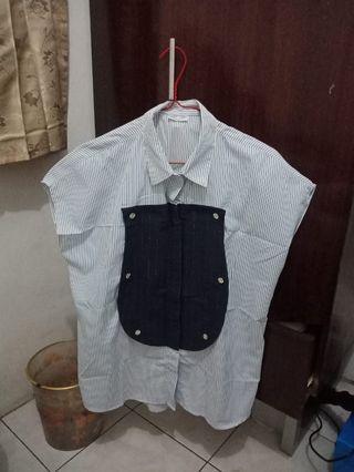 Casual Kemeja - Kemeja Wanita - Vintage Blouse -Baju Kerja