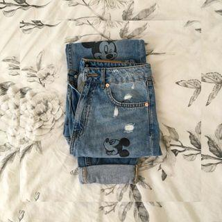 HnM jeans mickey mouse
