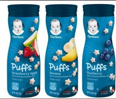 🚚 *Restocked Jun 2019* Gd Expiry. Free courier 12 bottles. Gerber Puffs  Veg Melts also available. Baby snacks naturally flavoured biscuits stars.