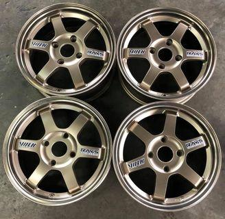 """Original 15"""" Volk Rays TE37 rim Made in Japan"""