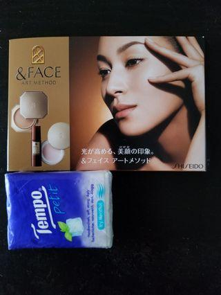 shiseido face art method lotion 美容液 粉底 化妝水 胭脂 試用裝 資生堂