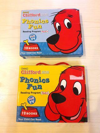 Preloved Clifford Phonics Fun Book Set - Pack 5 and 6