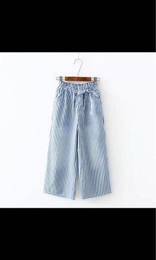 日系蝴蝶結🎀九分寬褲