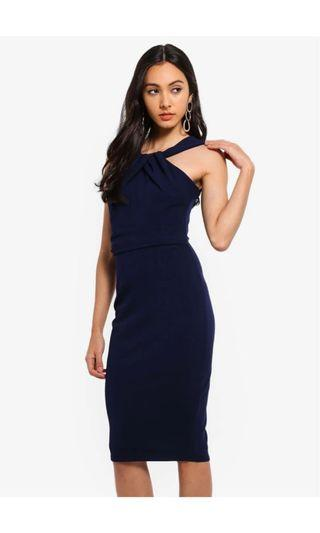 🚚 GODDIVA PLEATED NECK LINE DRESS